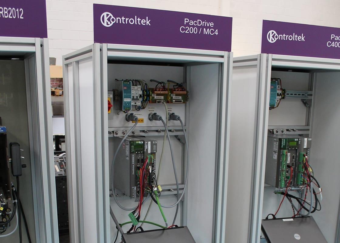 Kontroltek PacDrive C200/MC4 test rig.
