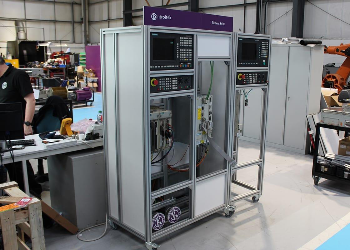 Kontroltek 840C test rig in the workshop.