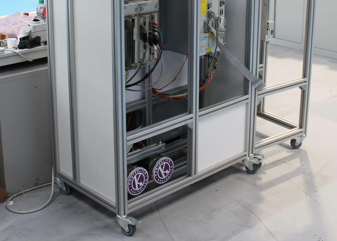 Kontroltek test rig 840c with motors attached.