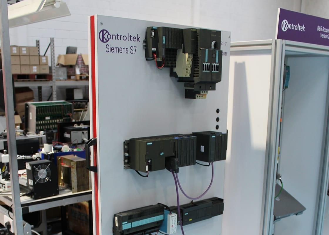Kontroltek Siemens S7 test rig in Kontroltek.
