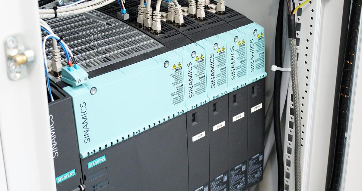 Metal sheet curver repair sinamics control cabinet